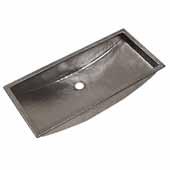 Trough 30'' Bathroom Sink in Polished Nickel, 30''W x 14''D x 6''H