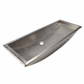 Trough 36'' Bathroom Sink in Brushed Nickel, 36''W x 14''D x 6''H