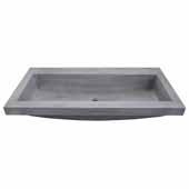 Trough 3619 Bathroom Sink in Ash-No Faucet Holes, 36''W x 19''D x 5''H