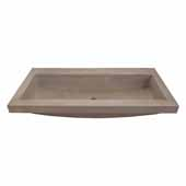 Trough 3619 Bathroom Sink in Earth-No Faucet Holes, 36''W x 19''D x 5''H
