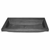 Trough 3619 Bathroom Sink in Slate-No Faucet Holes, 36''W x 19''D x 5''H