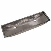 Trough 48'' Bathroom Sink Polished Nickel, 48''W x 14''D x 6''H