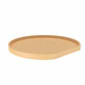 28'' Diameter Banded Wood D-Shape Lazy Susan Shelf Only