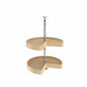 18'' Diameter Almond Polymer Kidney Lazy Susans 2-Shelf