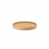 20'' Diameter Banded Wood D-Shape Lazy Susan Shelf Only