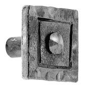 Iron Art Square Knob, 1-1/4'' W x 1'' D x 1-1/4'' H, Brushed Nickel