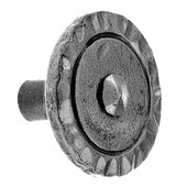 Iron Art Round Knob, 1-1/2'' W x 1'' D x 1-1/2'' H, Black Iron