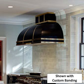 Arcata Ceiling Mounted Island Range Hood, Stainless Steel, Powder Coated - Customizable in Multiple Sizes & Finishes