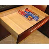 Adjustable Insert, For Drawer Widths 5'' to 9'', Front-to-Back Partitions Run