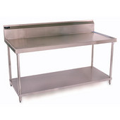 Aero Work Table w/ Backsplash and Stainless Steel Undershelf