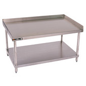 Aero Stainless Steel Equipment Stand w/ Shelf, 30'' Depth Model, 24'' W