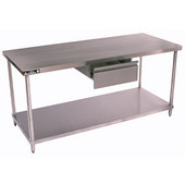 Aero Stainless Steel Work Table w/ Shelf