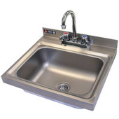 Aero Stainless Steel Drop In Sink with Faucet and Safety Edges,14''W x 18''D x 13-3/4''H