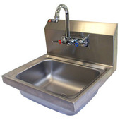 Aero Stainless Steel Utility Sink with 8'' Back Splash, Includes Faucet, 17''W x 15''D x 17-1/4''H