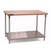 Aero Maple Wood Top Work Table, 60'' W x 30'' D x 35'' H