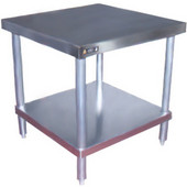 Aero SS Top Mixer Stand w/Galvanized Legs & Shelf