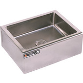 Aero Floor-Mounted Stainless Steel Mop Sink, 27''W x 27''D x 10''H