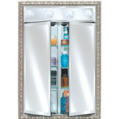 Signature Collection 24''Wx34''H Group A Double Door Medicine Cabinet with Contemporary Lights, Available in Multiple Sizes and Finishes