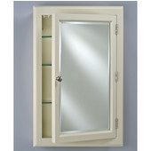 Devon I Small Medicine Cabinet, 22''W x 29-1/8''H, Satin Biscuit, Right Hinge