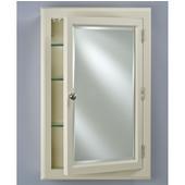 Devon I Small Medicine Cabinet, 22''W x 29-1/8''H, Satin Biscuit, Right Hinge