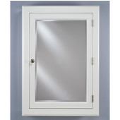 Devon I Small Medicine Cabinet, 22''W x 29-1/8''H, Satin White, Right Hinge