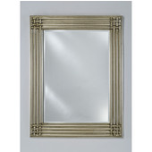 D�cor Wood Framed Rectangular Mirror, 42''W x 34''H, Antique Silver