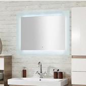 Illume Juno LED Side Lite Rectangular Wall Mounted Mirror, 20'' W x 36'' H, Other Sizes Available