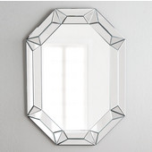 Modern Luxe Collection Octagon Contemporary Openwork Mirrored Glass Decorative Wall Mirror, 28'' W x 42'' H