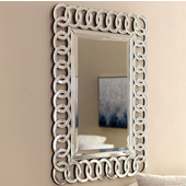 Modern Luxe Collection Rectangle Contemporary Openwork Mirrored Glass Decorative Wall Mirror, 30'' W x 42'' H