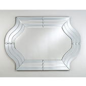 Contemporary Radiance Venetian Wall Mirror with Etched Glass Frame