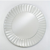 Round Contemporary Radiance Venetian Wall Mirror with Etched Glass Frame