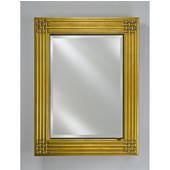 Vanderbilt Collection Décor Framed Single Door Recess/Wall Surface Medicine Cabinet 28'' x 34'', Antique Gold, Left Hinge