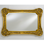 Timeless Traditional Decorative Framed Rectangular Wall Mirror, Antique Gold, 26''W x 36''H