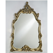 Timeless Traditional Decorative Framed Intricate Wall Mirror, Antique White, 25''W x 47''H