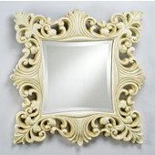 White Timeless Traditional Wall Mirror, 23'' x 23''