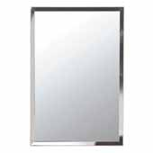 Urban Steel Rectangle Wall Mirror in Polished Stainless Steel, 20'' W x 30'' H, 1'' Wide Frame, Available in Multiple Sizes