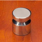 Chicago V Groove Knob, Mirror Stainless Steel, 7/8'' Dia, 1'' long