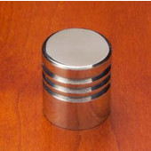 Chicago 3 ''V'' Groove Knob, Mirror Stainless Steel, 7/8'' diameter, 1'' long