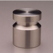 Chicago Brushed Bottom Beveled Notched Groove Knob, Brushed Stainless Steel,  7/8'' dia, 1'' long