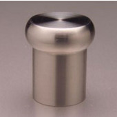 Chicago Flat Mushroom Top Knob, Brushed Stainless Steel, 7/8'' diameter, 1'' long