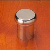 Chicago Flat Mushroom Top Knob, Mirror Stainless Steel, 7/8'' diameter, 1'' long
