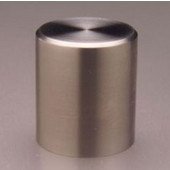 Chicago Solid Cylinder Knob, Brushed Stainless Steel, 7/8'' diameter, 1'' long