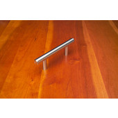 32'' stainless steel bar pull, 1/2'' diameter, hand finished