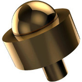101A Series Cabinet Hardware 1-1/2'' Diameter Round Cabinet Knob in Polished Brass (Standard Finish), Available in Multiple Finishes