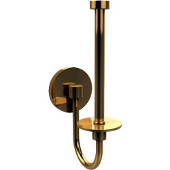 Skyline Collection Upright Toilet Tissue Holder, Unlacquered Brass