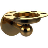 Skyline Collection Tumbler and Toothbrush Holder with Twist Accents, Unlacquered Brass