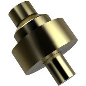 103 Series Cabinet Hardware 1-1/2'' Diameter Round Cabinet Knob in Satin Brass (Premium Finish), Available in Multiple Finishes