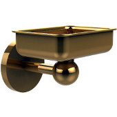 Skyline Collection Wall Mounted Soap Dish, Unlacquered Brass