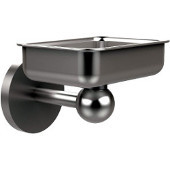 Skyline Collection Soap Dish w/ Liner, Premium Finish, Satin Chrome