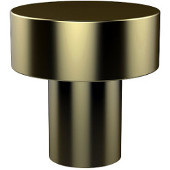 107 Series Designer Cabinet Knobs Collection 1'' Diameter Round Flat Top Cabinet Knob in Satin Brass (Premium Finish), Available in Multiple Finishes
